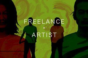 フリーランスとアーティストの2人